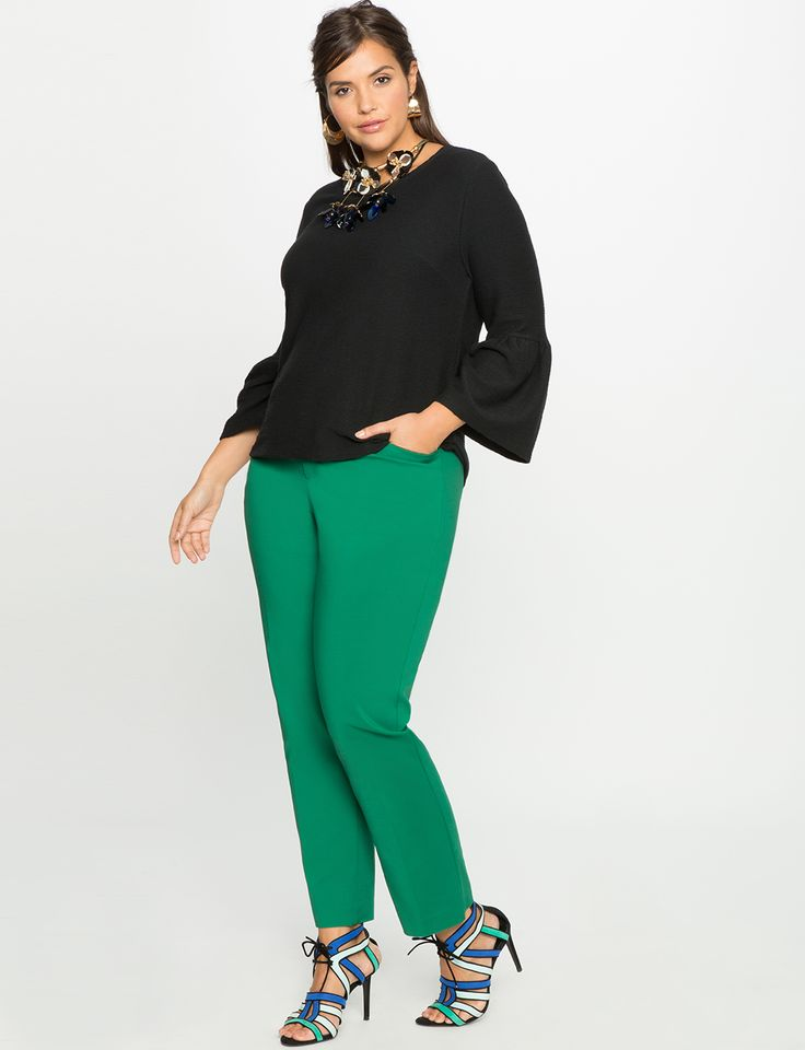 Kady Fit Double-Weave Pant Verdant Green