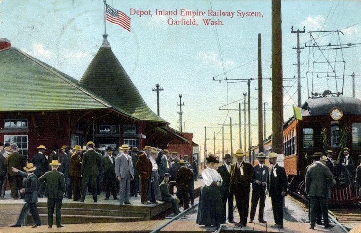 Depot, Inland Empire Railway System, 1910 - Garfield,