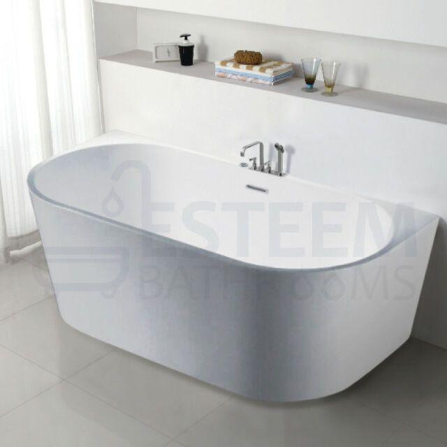 1700 Mm Bathroom Free Standing Bath Tub Round White Back To Wall