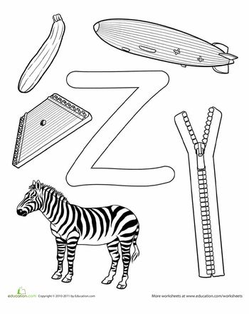 Worksheets: Z Is For...