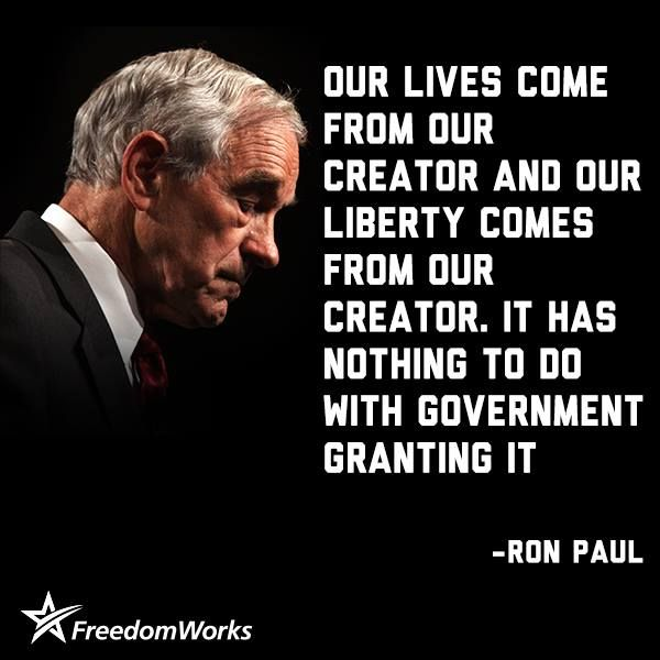 Ron Paul. Bless your soul.