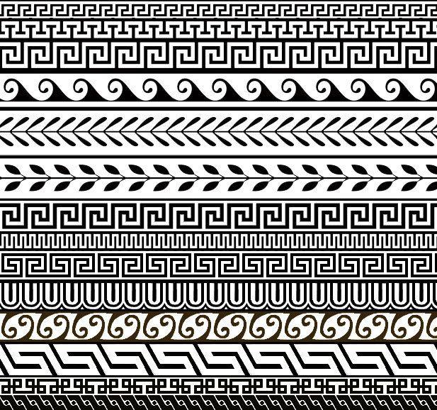 Greek Designs | 14 Free Greek Ornament Patterns