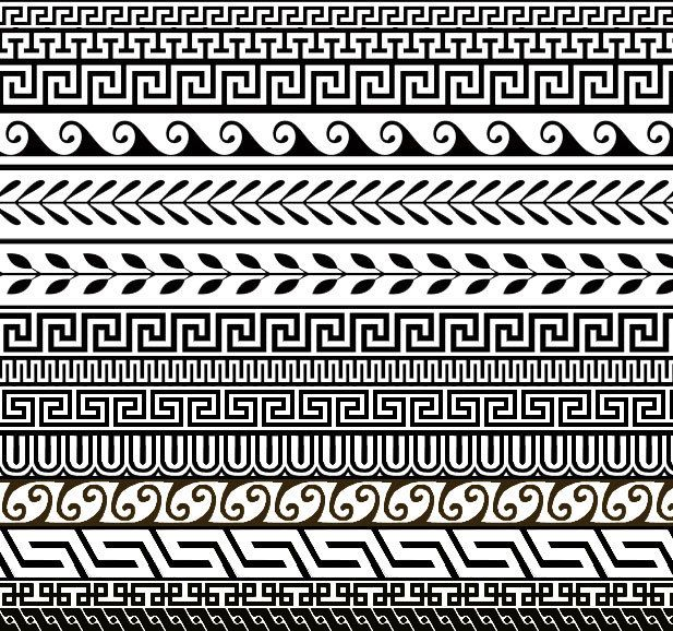 Greek Designs | 14 Free Greek Ornament Patterns