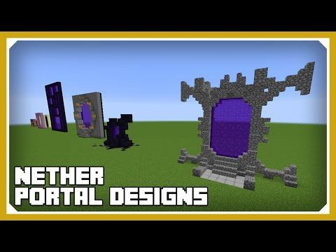 Minecraft: How To Build Nether Portal Designs Tutorial (Survival Minecraft Building) - YouTube