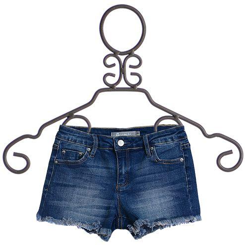 Tractr Girls Cut Off Denim Shorts (Size 8)