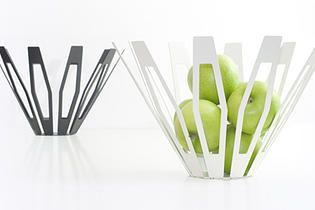 Deca fruitbowl laser-cut steel formed fruit bowl