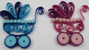 How to make a quilling baby buggy newborn DIY (tutorial + free pattern) - YouTube