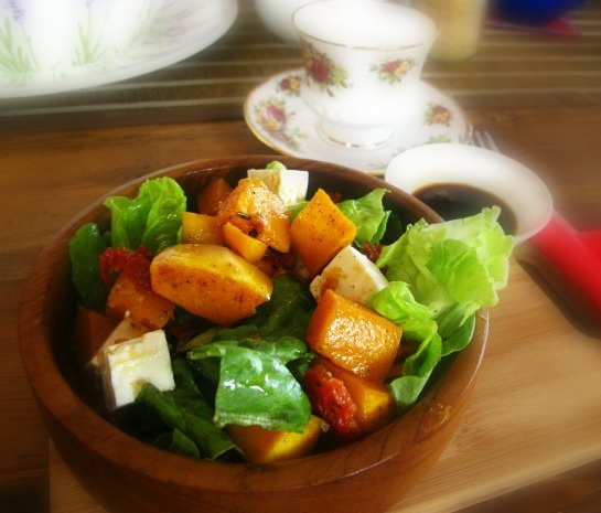 Most delicious Roast Pumpkin Salad from Tea Time@Yamba.