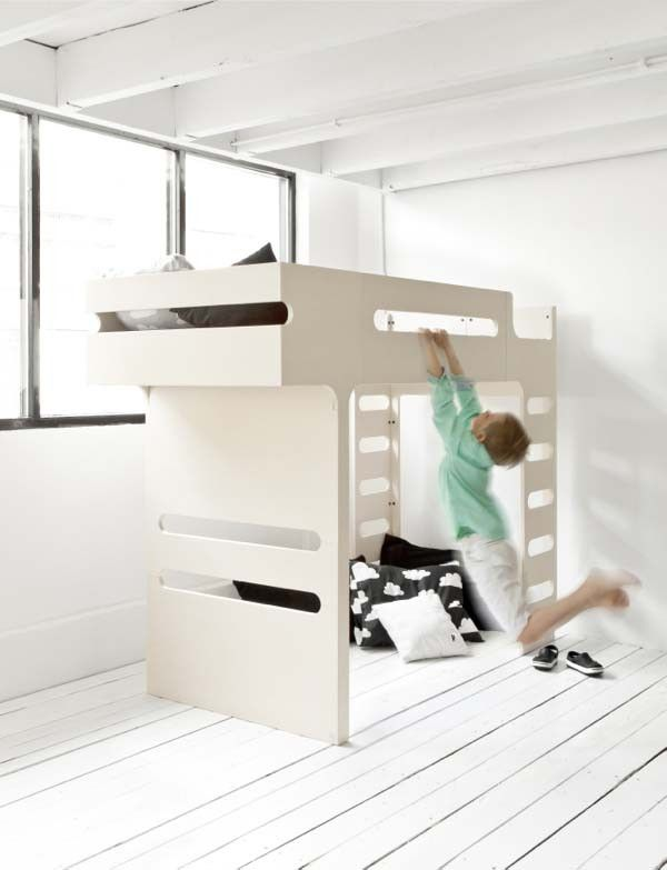 A bunk bed that looks good http://www.morfae.com/a-bunk-bed-that-looks-good/  Rafa kids' bunk bed is not just a place to sleep, but also a playful and functional element in a room. #design   #furnituredesign   #furniture   #kids   #kidsfurniture   #morfae