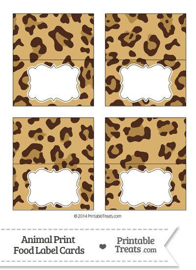Jaguar Print Food Labels from PrintableTreats.com