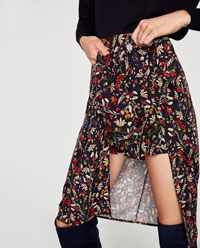 изображение 7 из ЮБКА-БРЮКИ С ЦВЕТОЧНЫМ ПРИНТОМ от Zara