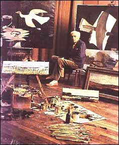 Braque with Atelier paintings