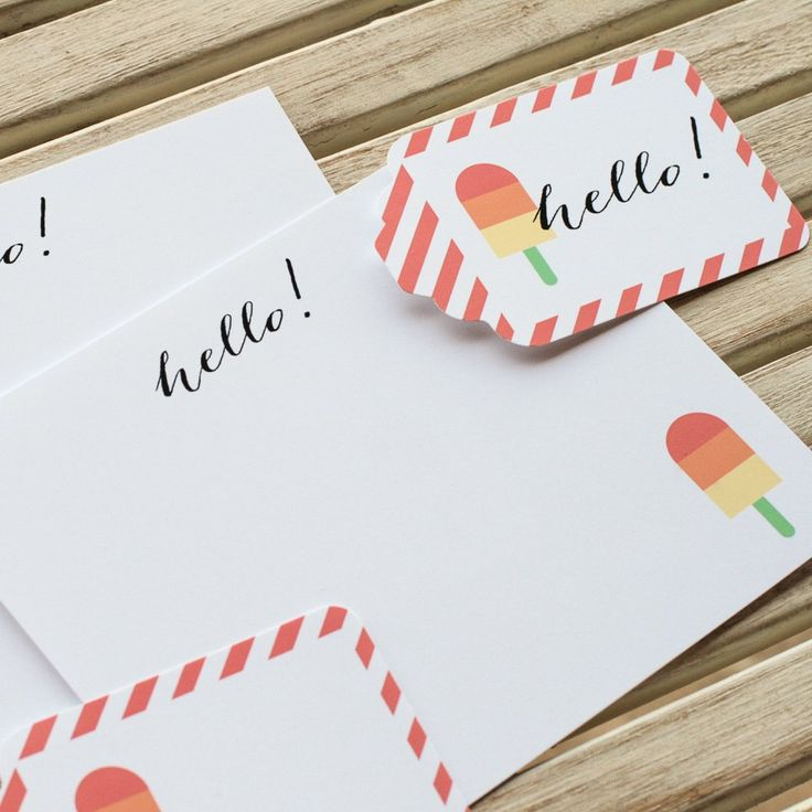 Free Popsicle Stationery Printables #247moms