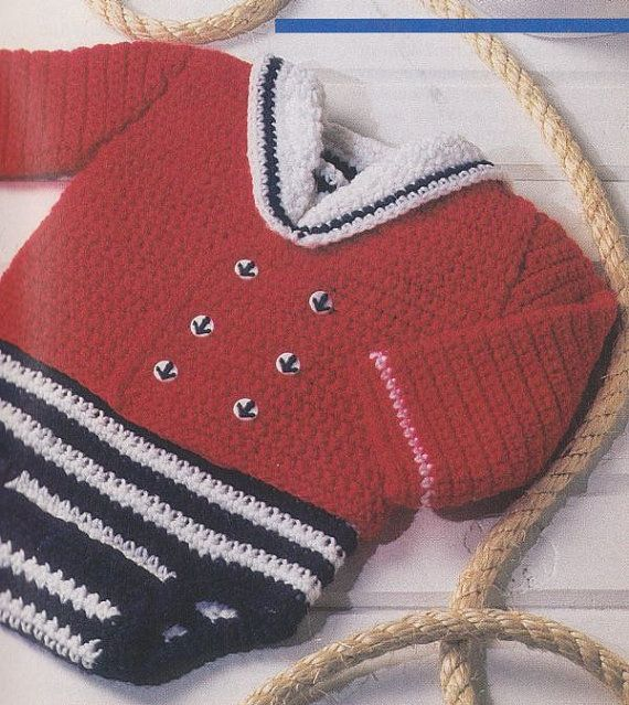 Free Knitting Pattern Baby Sailor Hat : 1000+ images about Crochet - Sailors And Sea Life ! on Pinterest