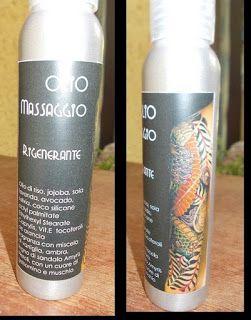 Olio da massaggio profumato, rigenerante, restitutivo anche per pelle tatuata