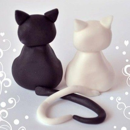 Beginning to Sculpt: Cute Clay Kitty Couple