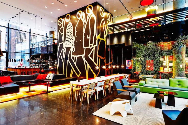 Gewoon BASIC cushions at the citizenM New York City hotel lobby // check the complete collection at www.gewoonnl.nl // #dutchdesign #gewoonNL