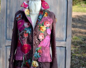Coquette  jacket  ornate festive jacket bohemian romantic