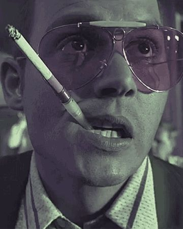Johnny Depp. Hunter S Thompson. both heroes