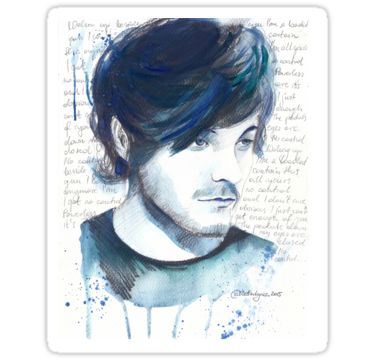 Stickers available on Redbubble Louis Tomlinson by WaterLyrics