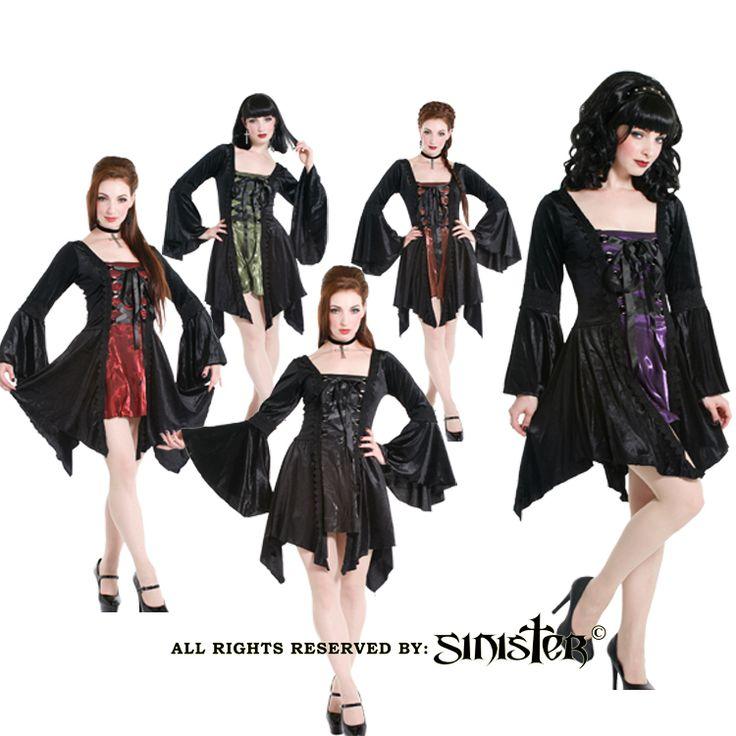 Velvet and taffeta gothic minidress by Sinister (Dress 733) www.sinister.nl