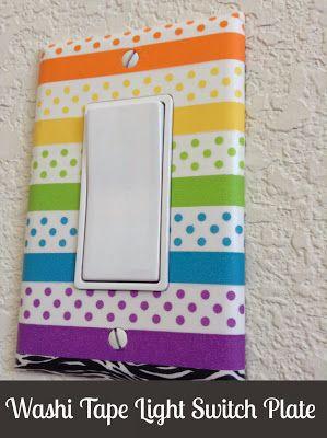 Happy in a Headlock : Washi Tape Light Switch Plates