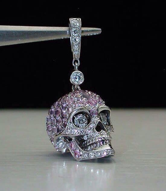 Skull charm! I wish Pandora made something like this! ✌ ▄▄▄Click…                                                                                                                                                                                 More
