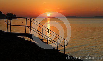 Beautiful Lake Balaton with beautiful sundown