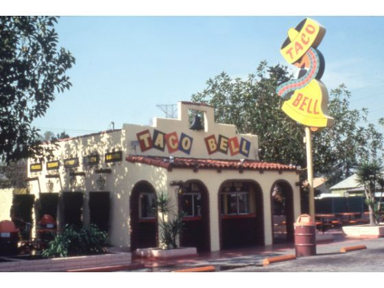 """""""Originated by Glen Bell, Taco Bell® became a reality on March 21, 1962. The first Taco Bell® restaurant was built in Downey, California,"""