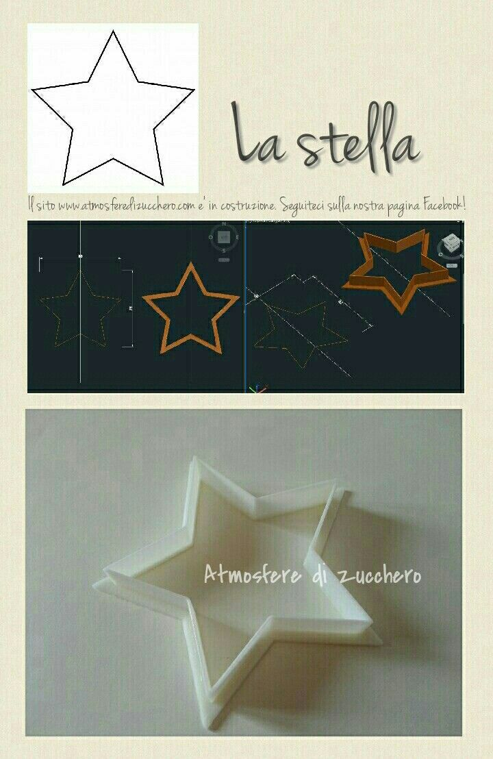 La stella _ The star | Cutters personalizzati _ Custom cutters