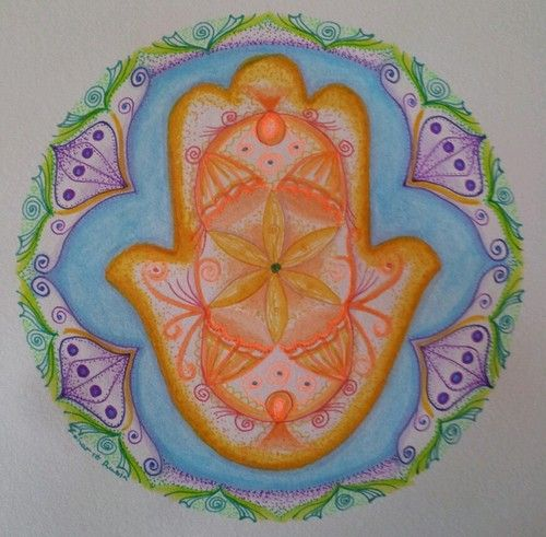 HAMSA Prosperity Mandala - Original by: Zoharit Rubin