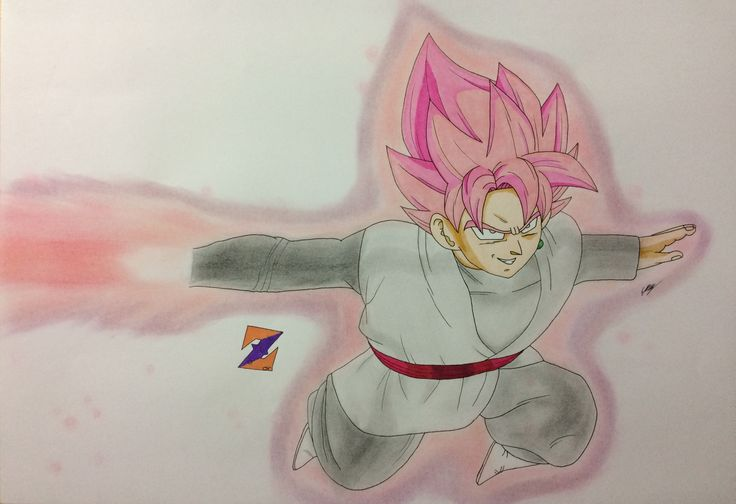 Goku Black Rose from Dragon Ball Super by ZorArt