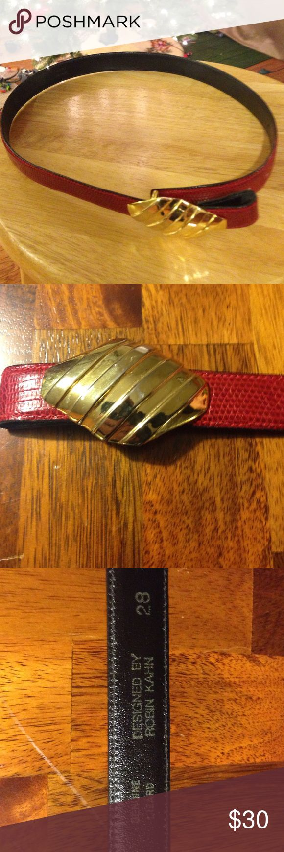 Robert Kahn Belt, Genuine Lizard Size 28.  Vintage, In good condition. Robert Kahn Accessories Belts