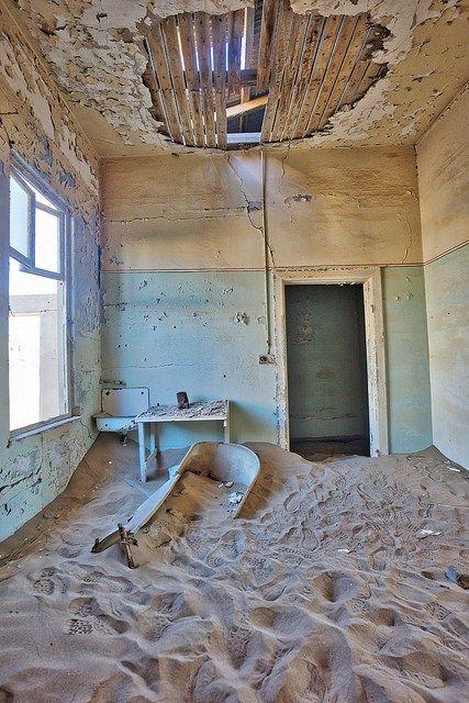 Abandoned Mining Town - Kolmanskop Namibia.