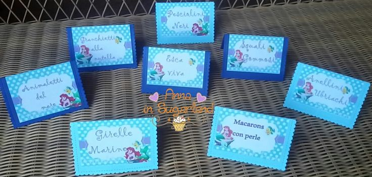 sweet table tent cards for an under the sea party