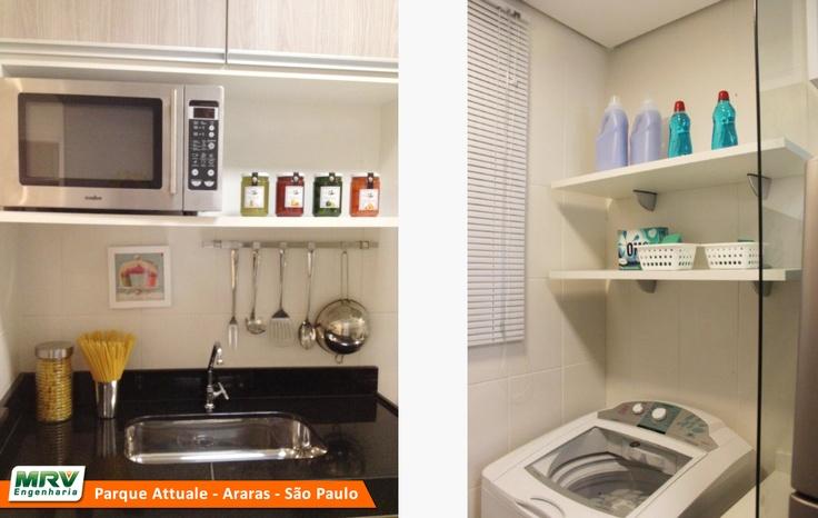 Apartamento decorado 2 quartos do Parque Attualle no  ~ Quarto Planejado Apartamento Mrv