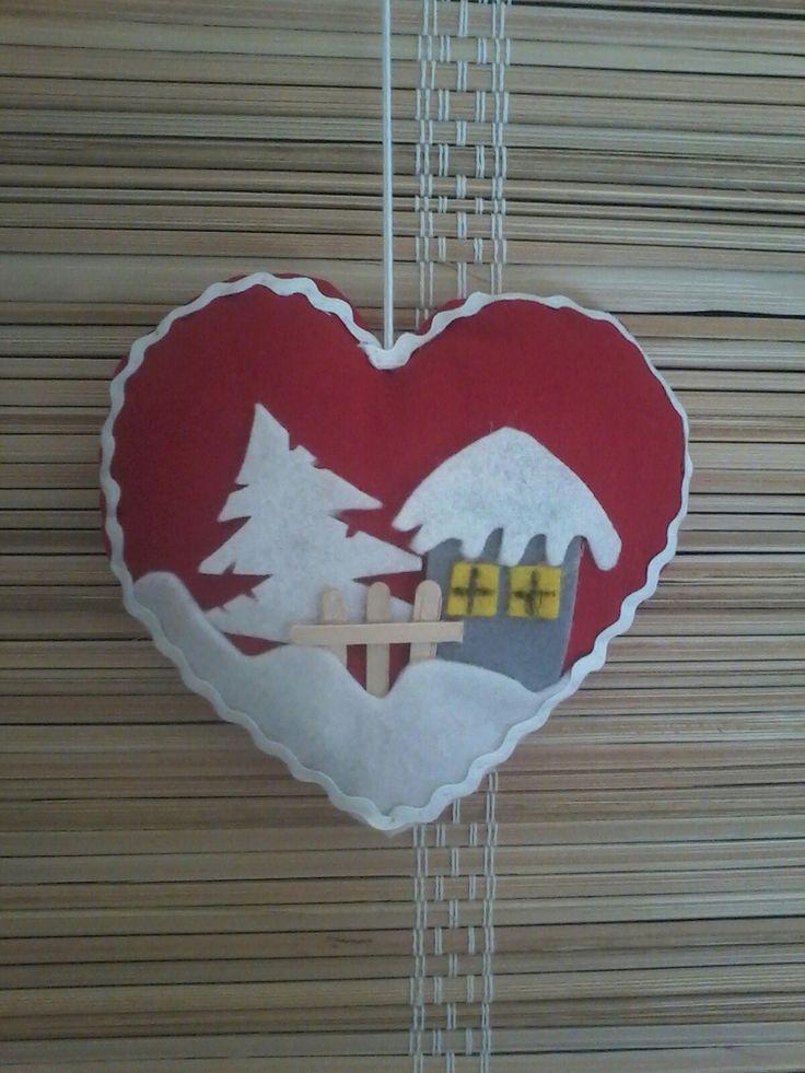 Vánoční srdíčko 13 cm
