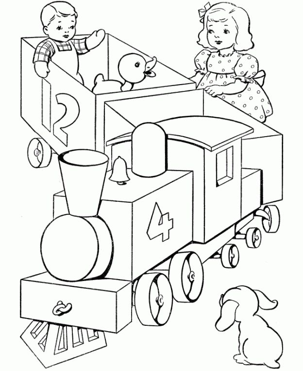 Toy Train Coloring Pages These Free Printable Are Fun For Kids