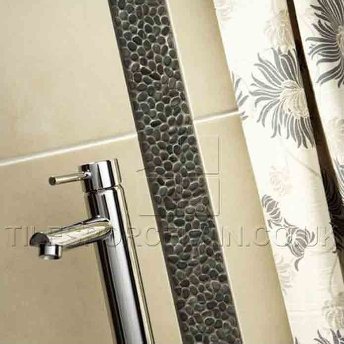 New  Vertical Mosaic Glass Tile Border With Large Format Tile  YouTube