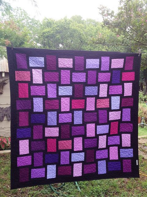 Follow The Purple Brick Road by sewandtellquilts - so gorgeous!