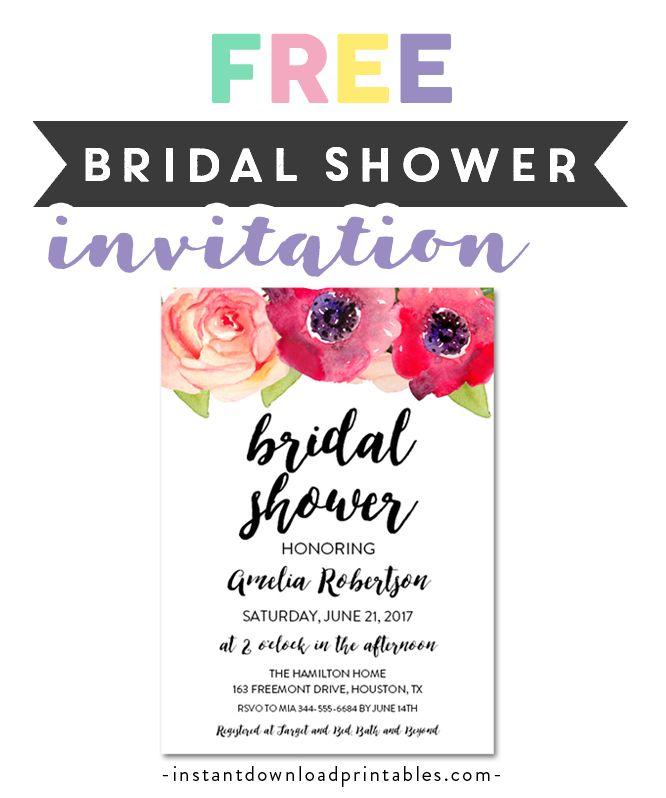 Free Printable Editable Pdf Bridal Shower Invitation Diy Fuchsia