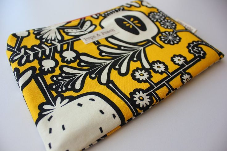 Large Sturdy Zipper Pouch in Bright Yellow, ideal for Make up bag, travel wallet, Gadget bag