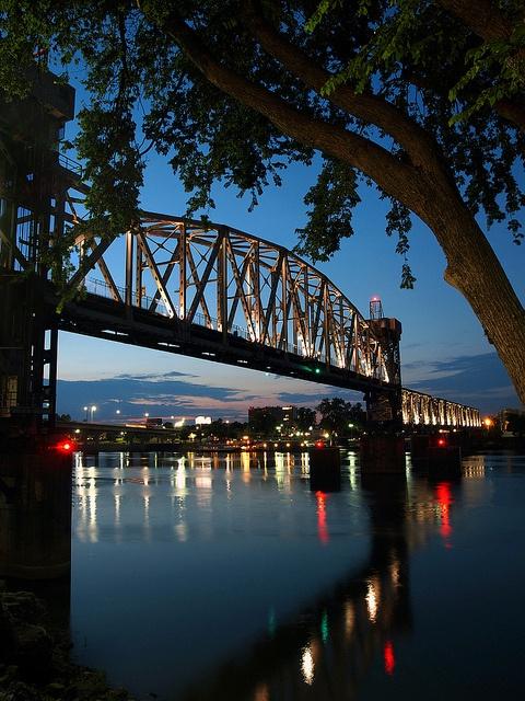 Junction Bridge, Little Rock, Arkansas - former railroad bridge turned into a great pedestrian walkway.   #South #Southern