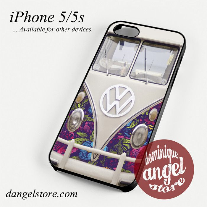 VW floral bus Phone case for iPhone 4/4s/5/5c/5s/6/6 plus