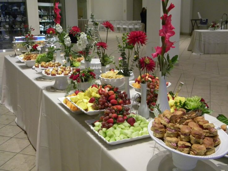 to give you an idea of heavy Hors d'oeuvre buffets