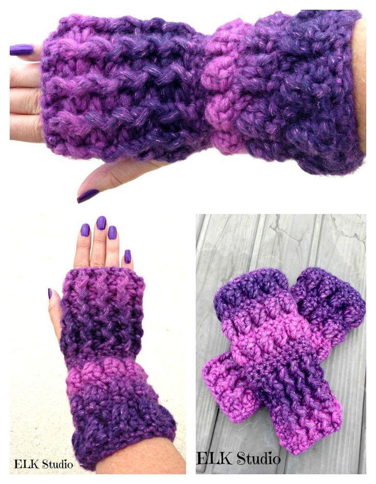 211 best Crochet - mitaines images on Pinterest   Fingerless gloves ...