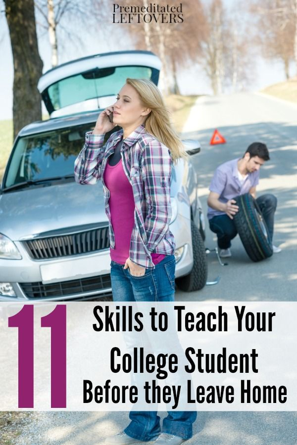 11 Skills Your College Student Should Have Before Leaving Home- Get your college kid prepared for living on their own with these essential life skills.