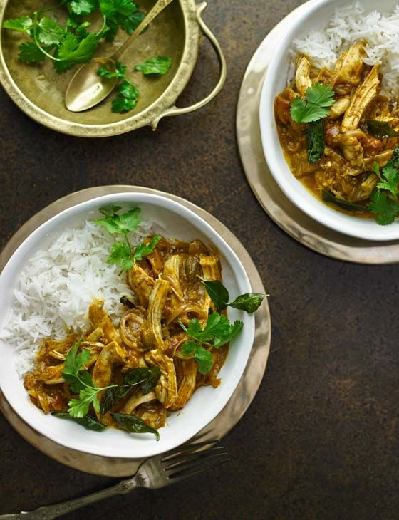 Sri Lankan turkey curry. A fragrant curry for four that can be made ahead, to save you time.
