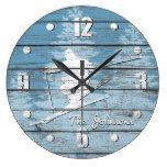 Rustic Look Downhill Ski Your Text Large Clock  #Clock #Downhill #Large #Look #Rustic #RusticClock #TEXT The Rustic Clock