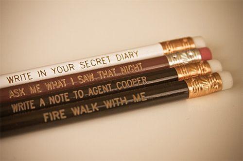 Twin Peaks pencils